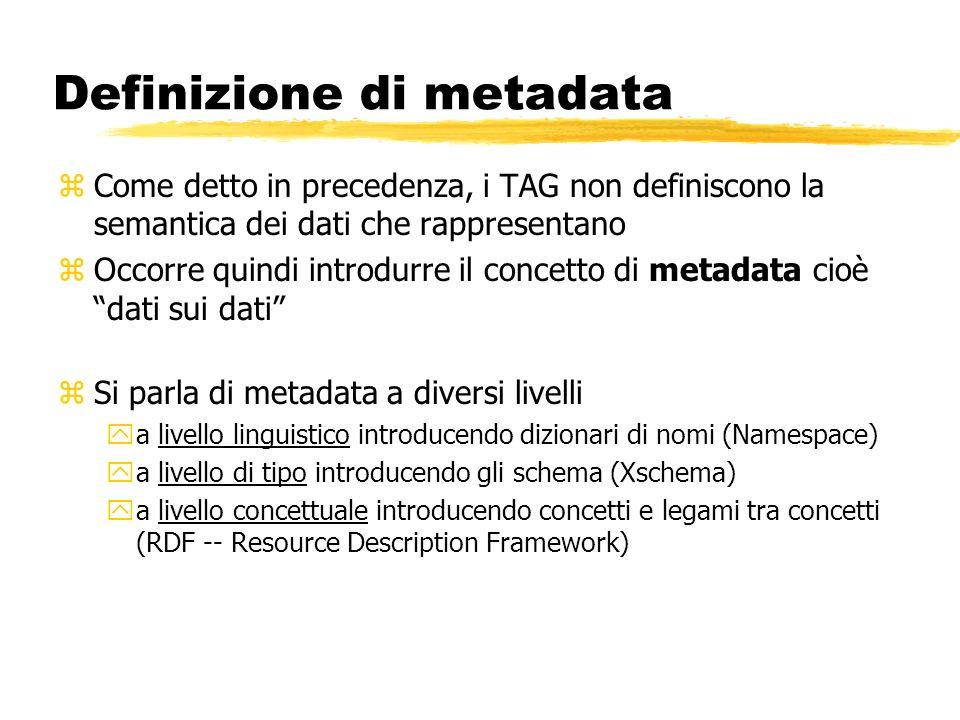 Definizione di metadata