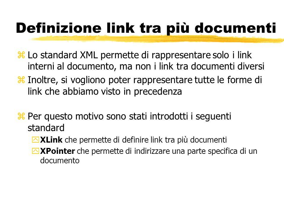 Definizione link tra più documenti