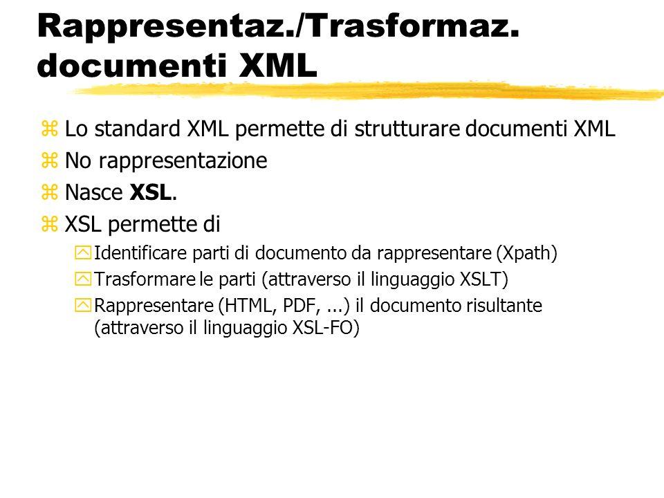 Rappresentaz./Trasformaz. documenti XML