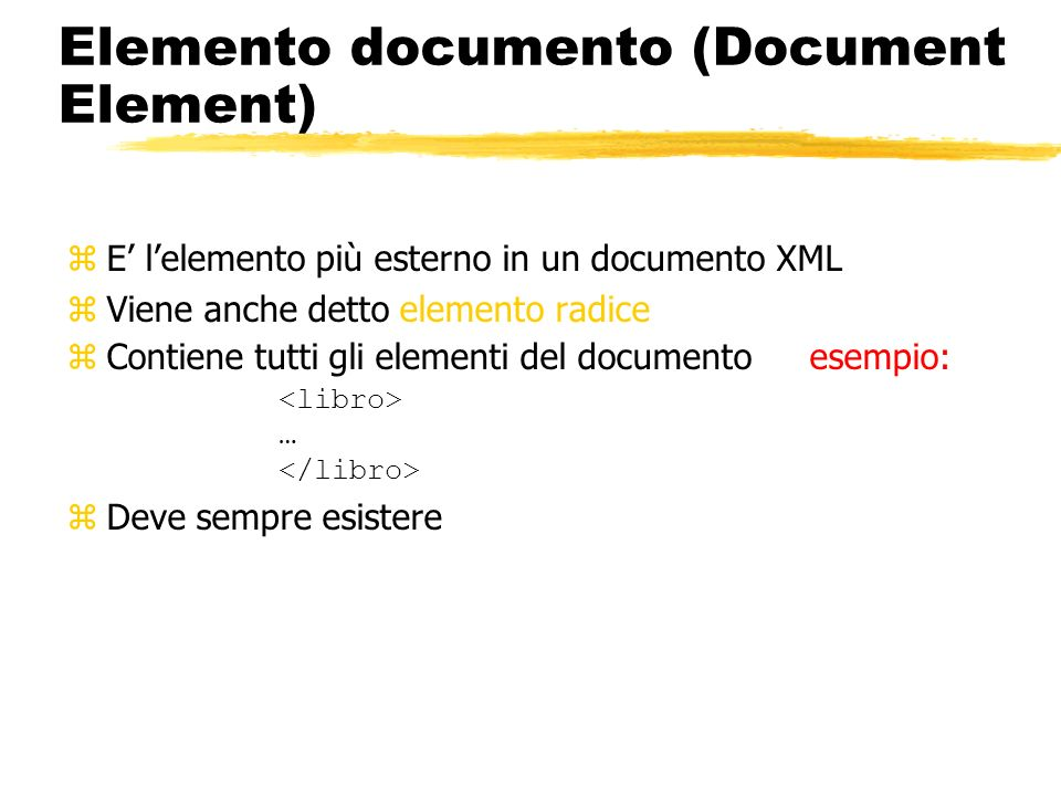 Elemento documento (Document Element)