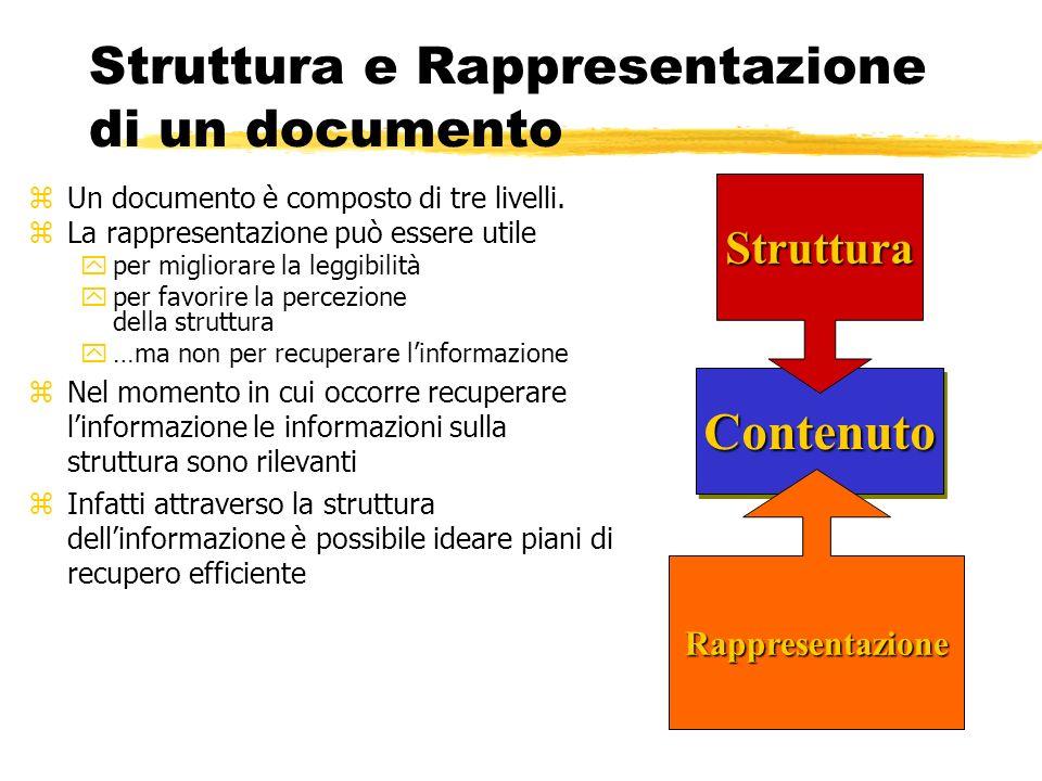 Struttura e Rappresentazione di un documento