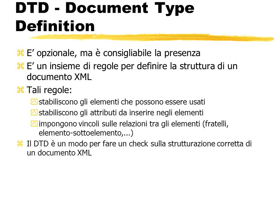 DTD - Document Type Definition