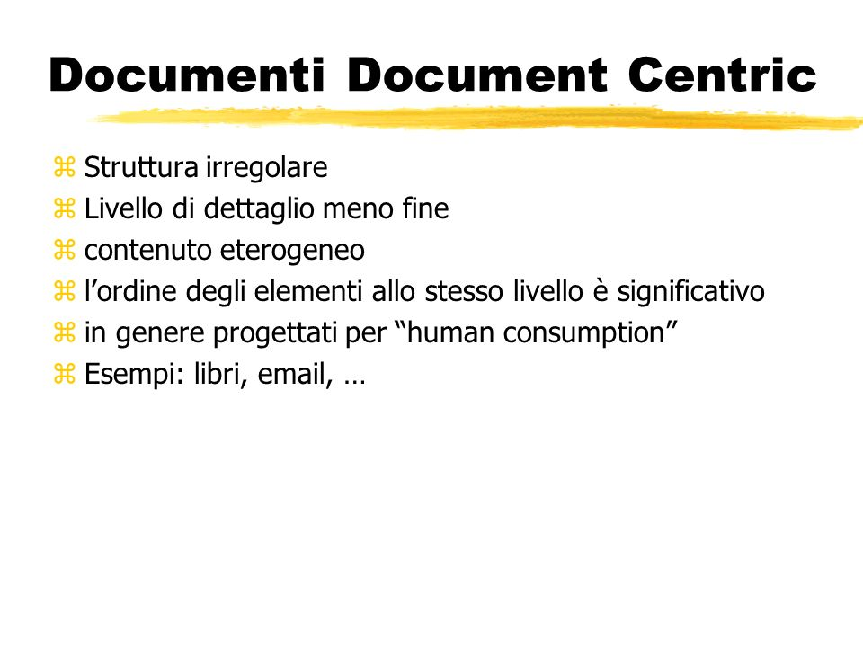 Documenti Document Centric