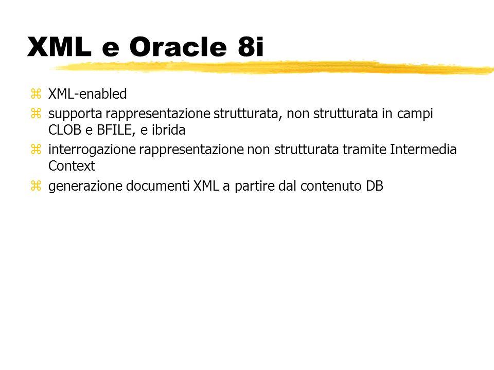 XML e Oracle 8i XML-enabled