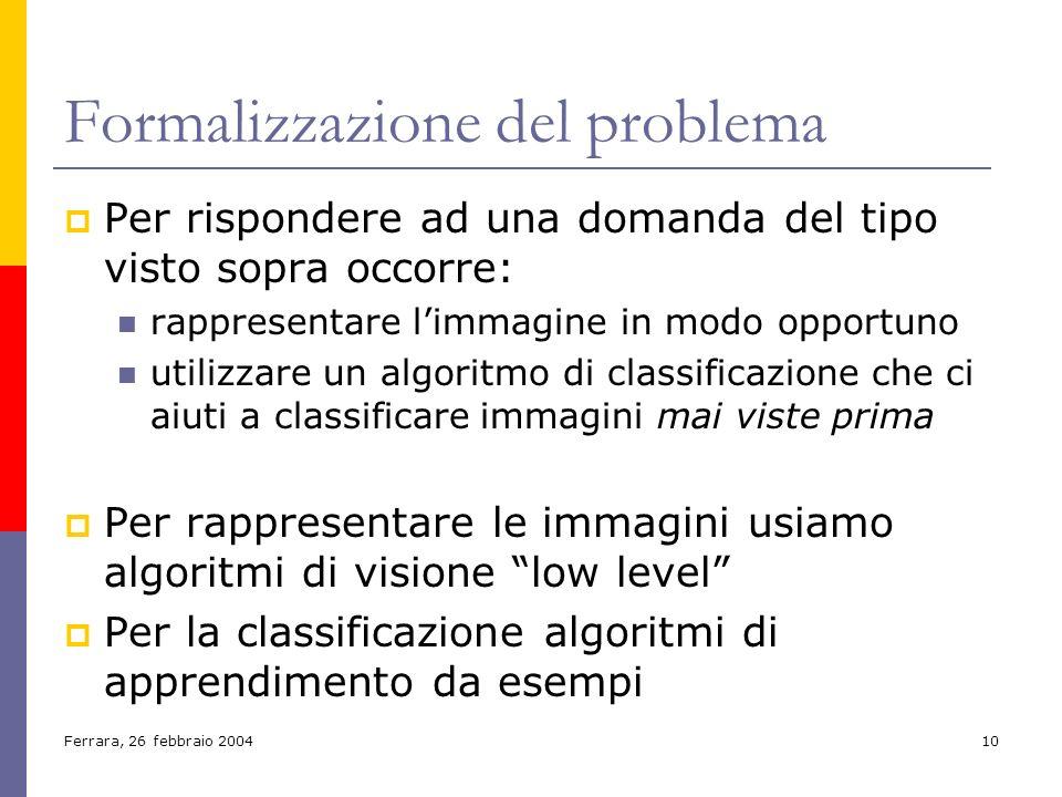 Formalizzazione del problema