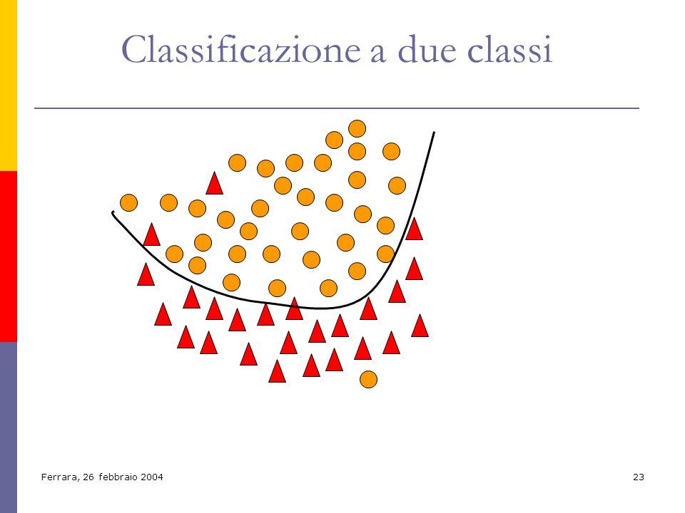 Classificazione a due classi