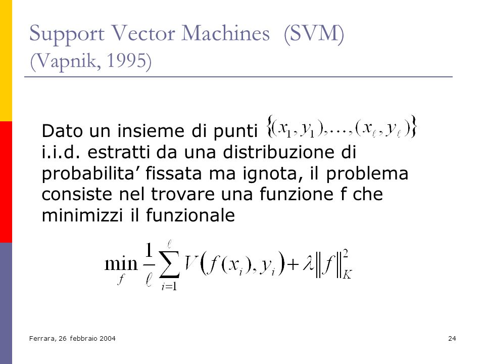 Support Vector Machines (SVM) (Vapnik, 1995)