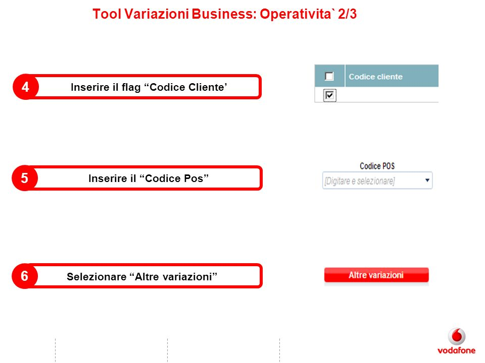 Tool Variazioni Business: Operativita` 2/3