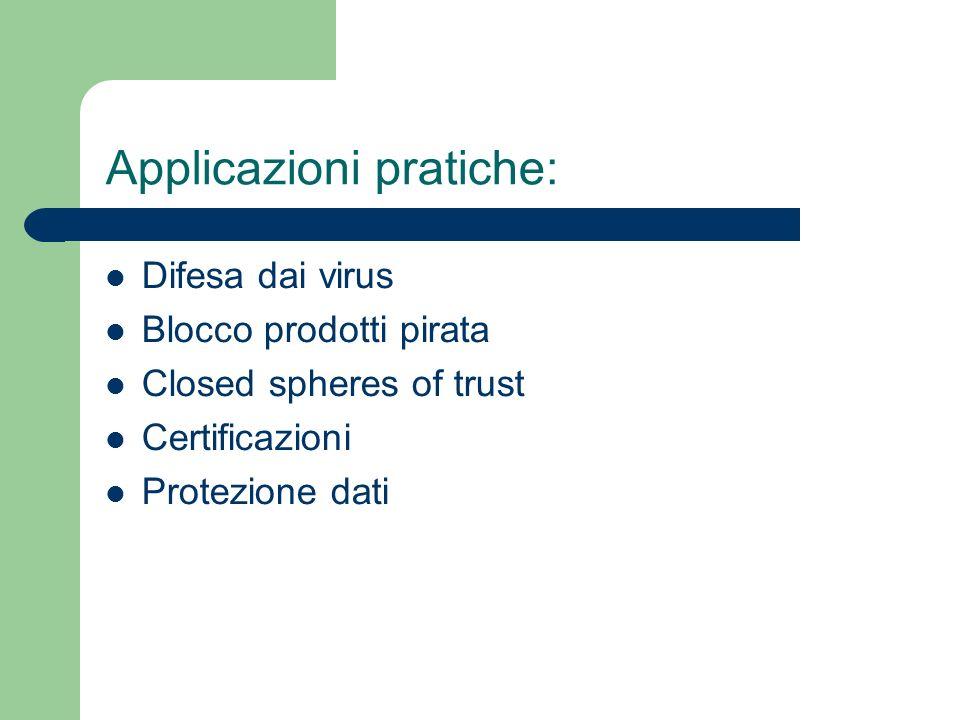 Applicazioni pratiche:
