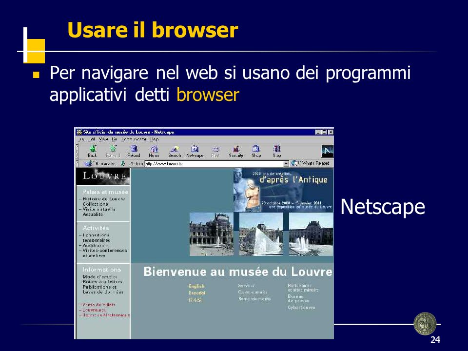 Usare il browser Netscape