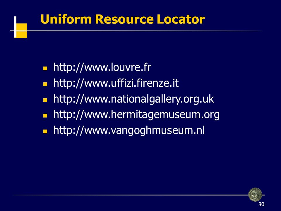 Uniform Resource Locator