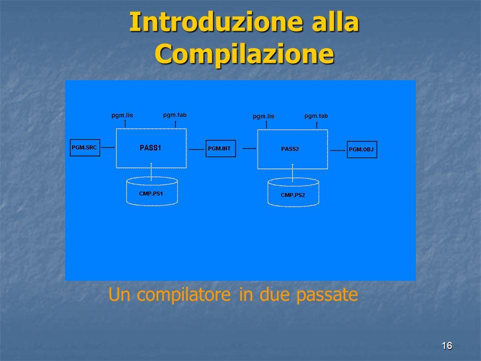 Introduzione alla Compilazione