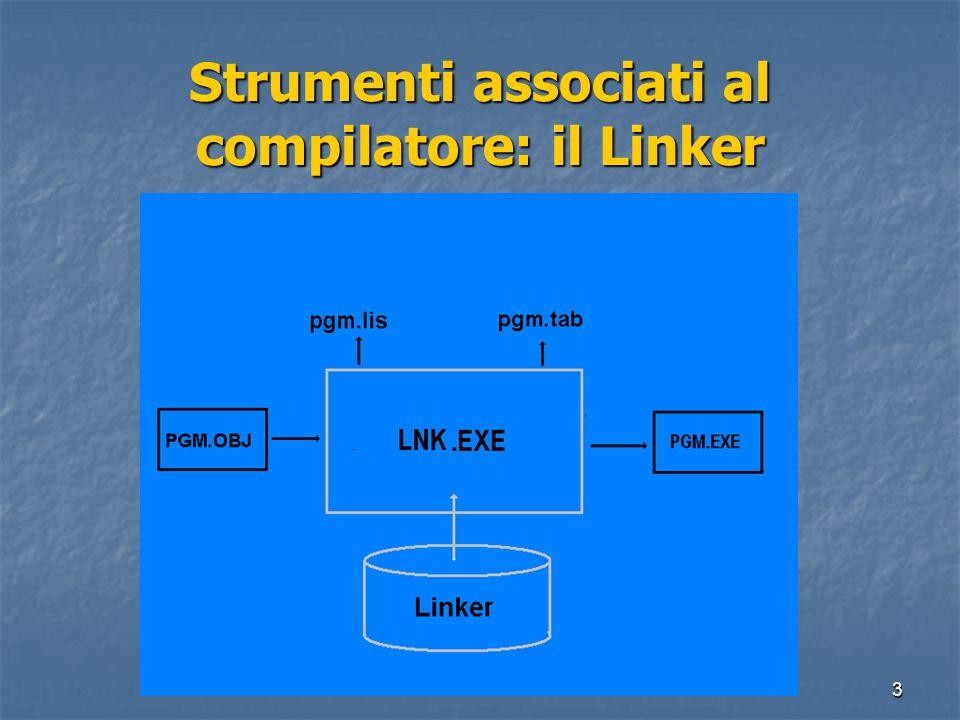 Strumenti associati al compilatore: il Linker