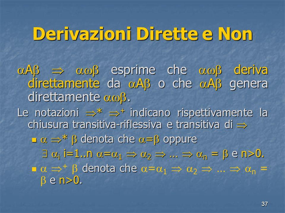 Derivazioni Dirette e Non