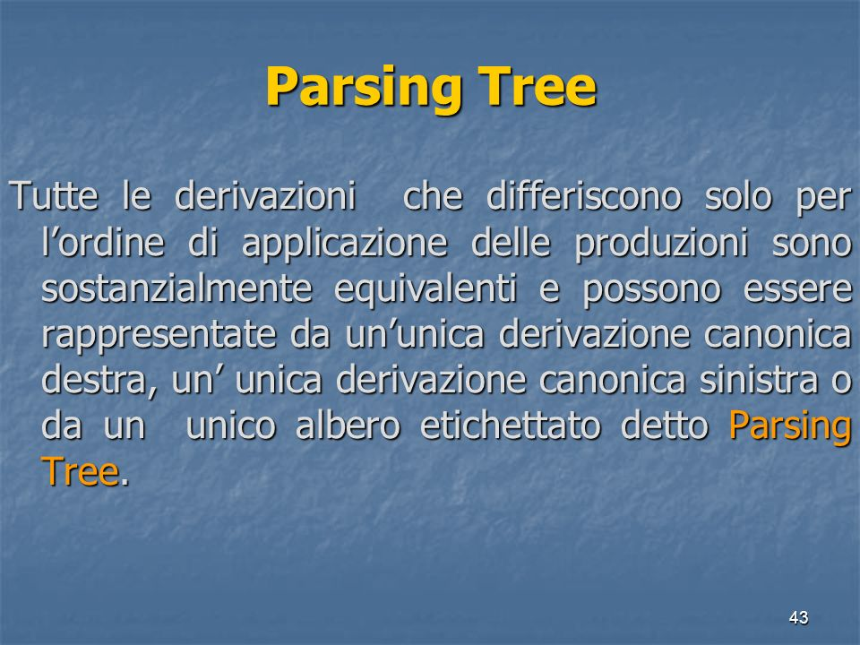 Parsing Tree