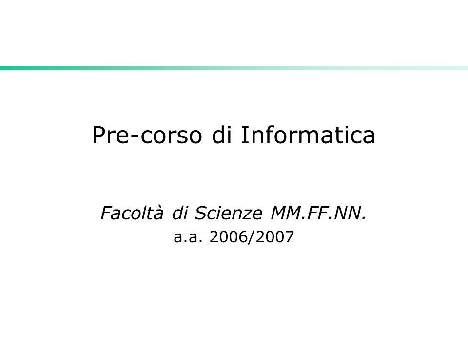 Pre-corso di Informatica