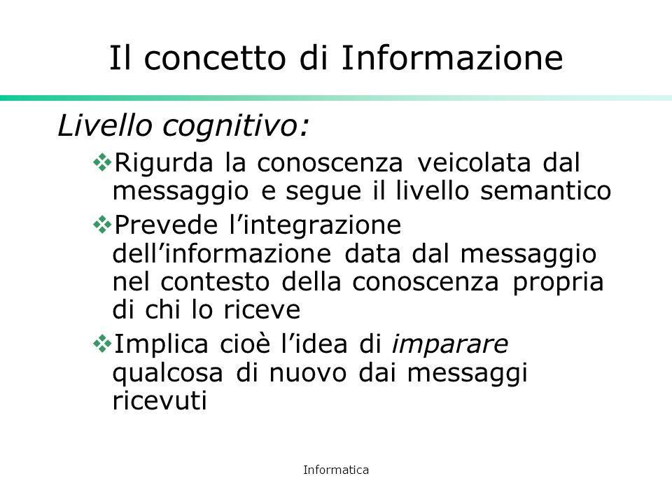 Il concetto di Informazione
