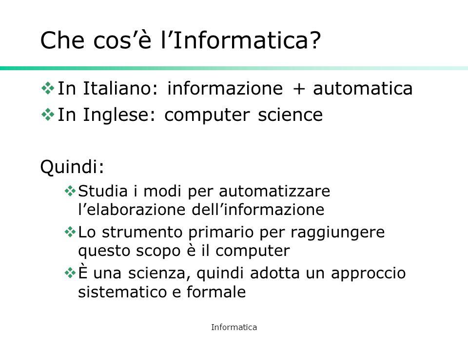 Che cos'è l'Informatica