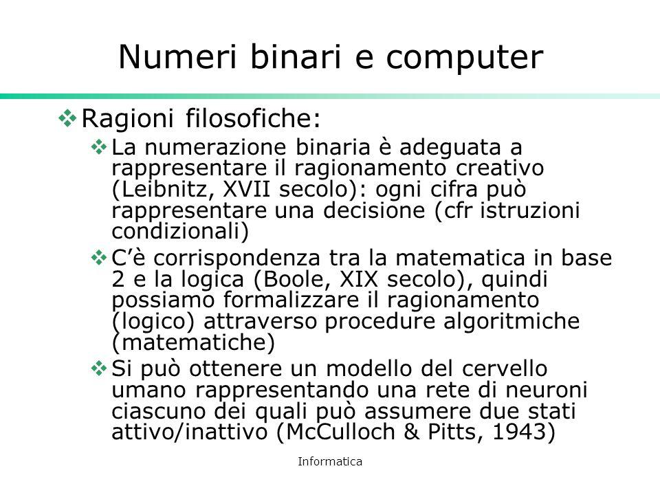 Numeri binari e computer