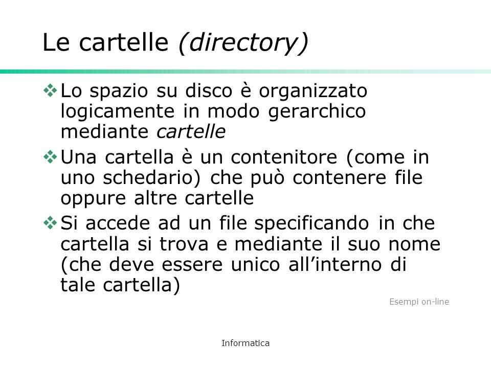 Le cartelle (directory)