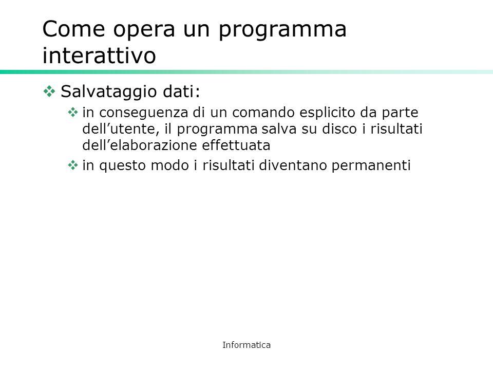 Come opera un programma interattivo