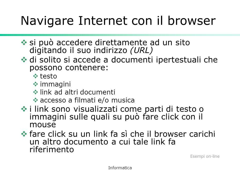 Navigare Internet con il browser