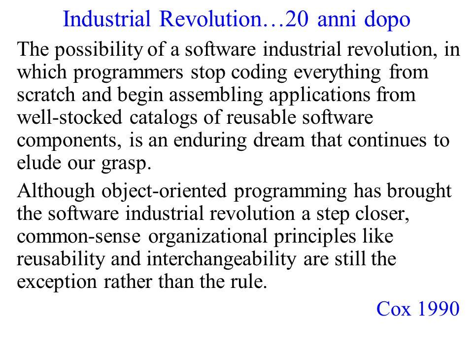 Industrial Revolution…20 anni dopo