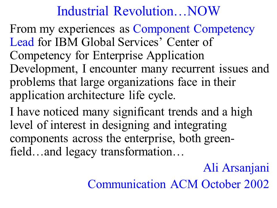 Industrial Revolution…NOW