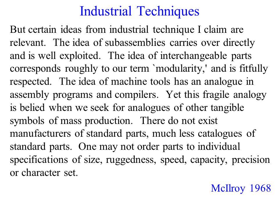 Industrial Techniques