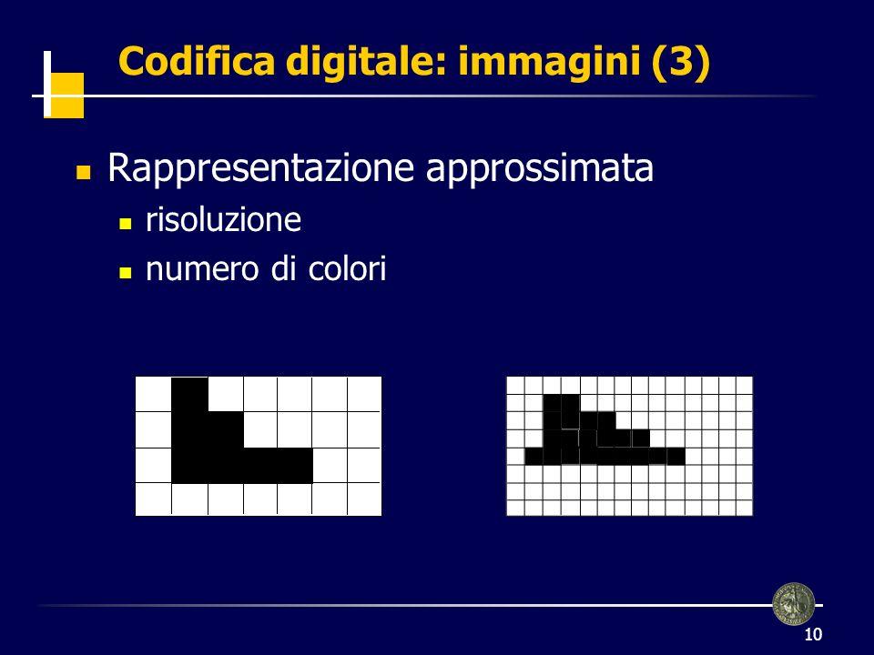 Codifica digitale: immagini (3)