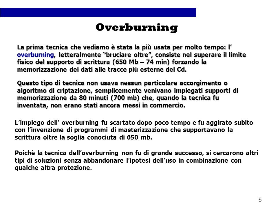 Overburning