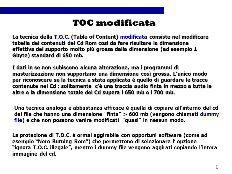TOC modificata