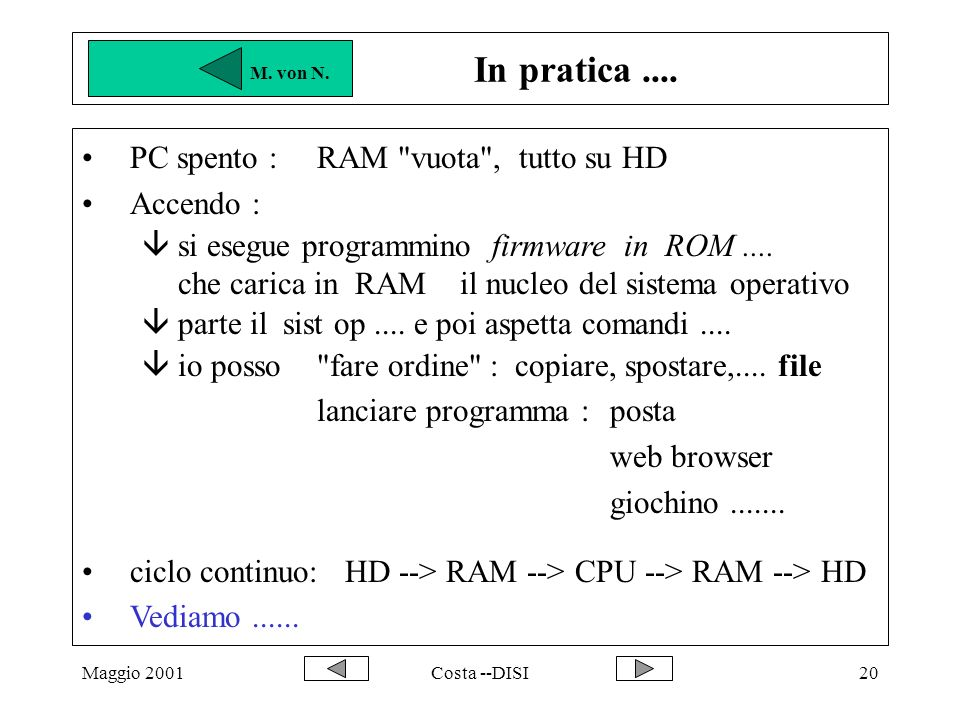 In pratica .... PC spento : RAM vuota , tutto su HD Accendo :