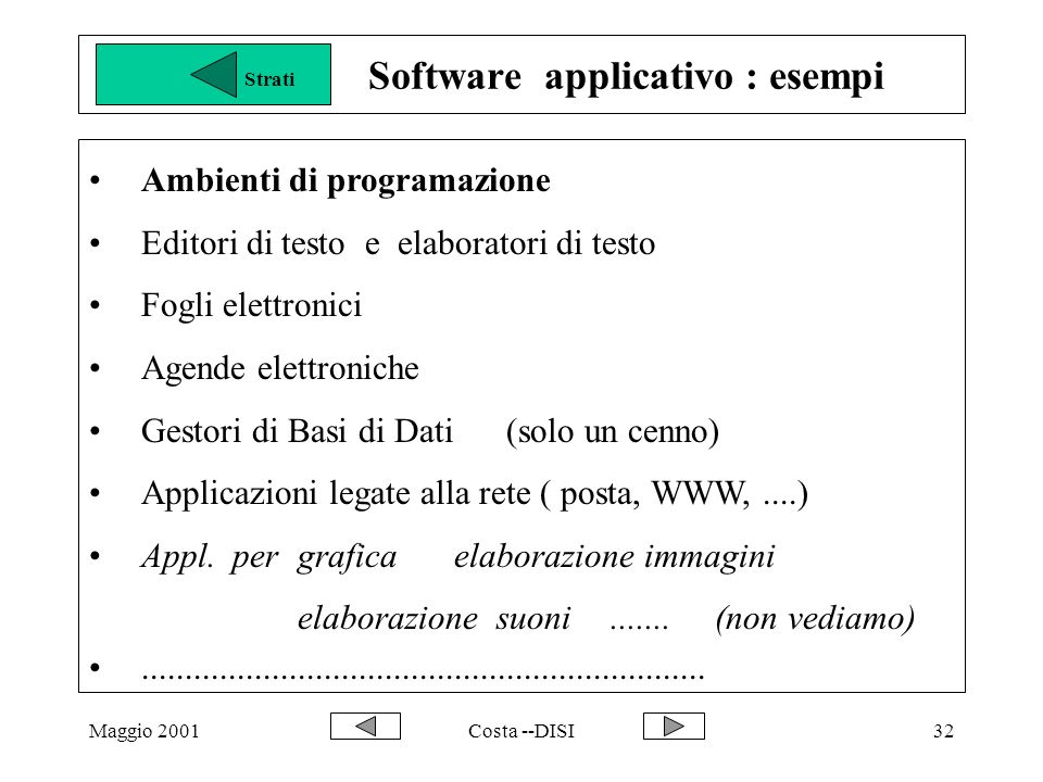 Software applicativo : esempi