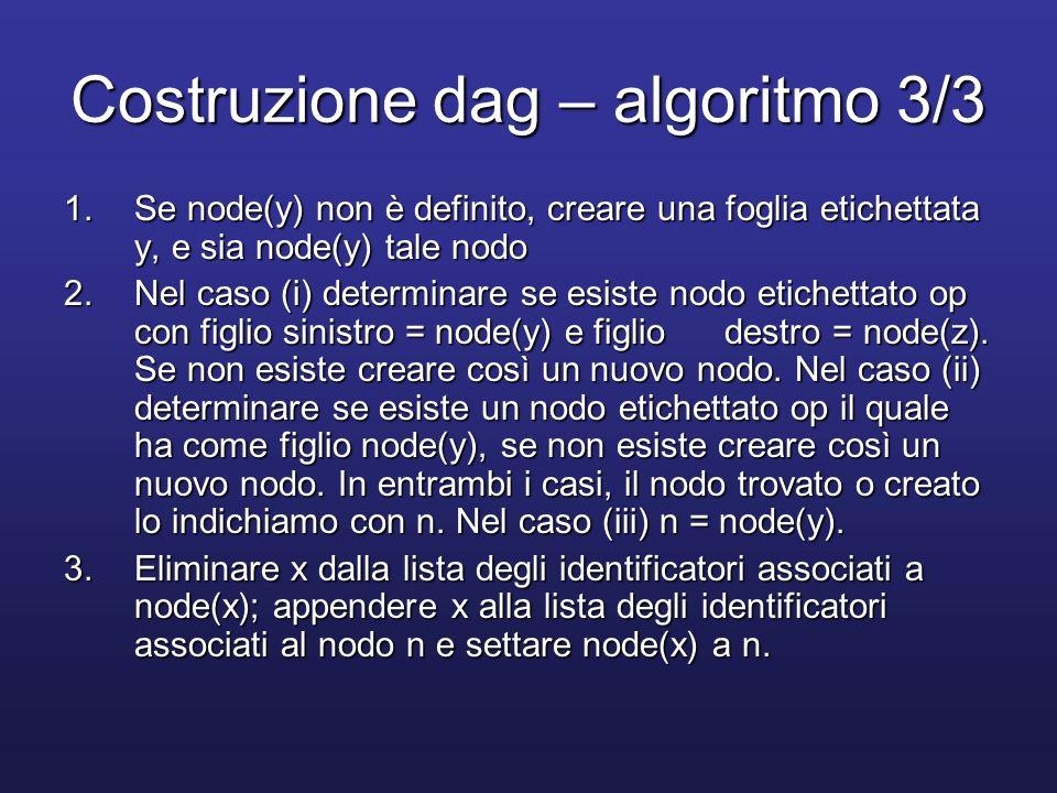 Costruzione dag – algoritmo 3/3
