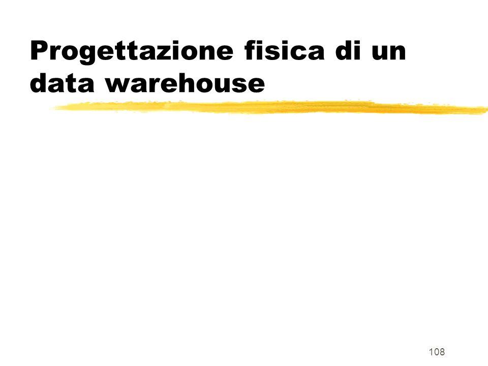 Progettazione fisica di un data warehouse