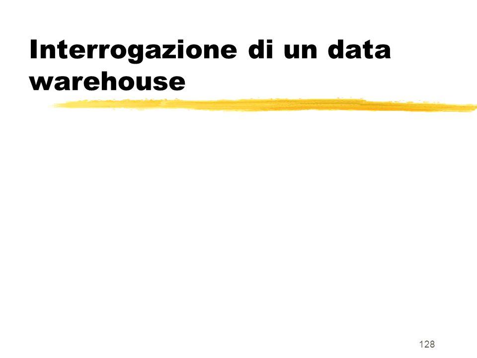 Interrogazione di un data warehouse
