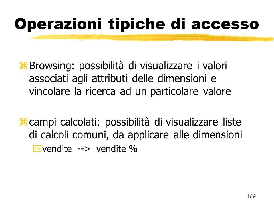 Operazioni tipiche di accesso