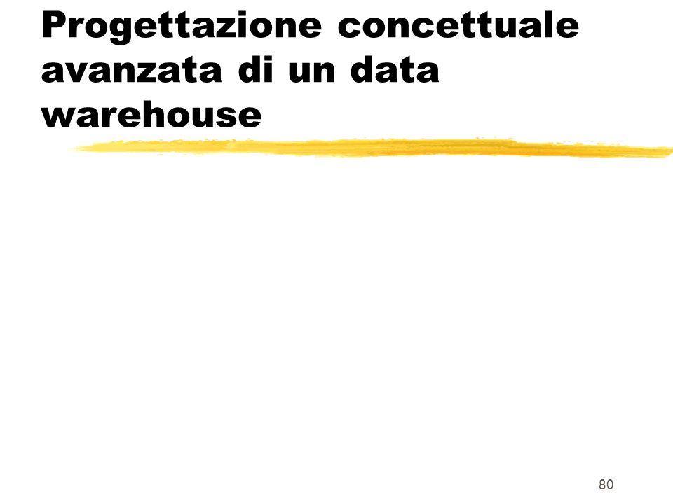 Progettazione concettuale avanzata di un data warehouse