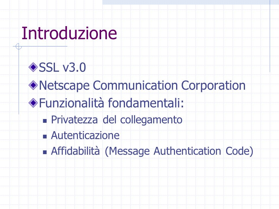 Introduzione SSL v3.0 Netscape Communication Corporation