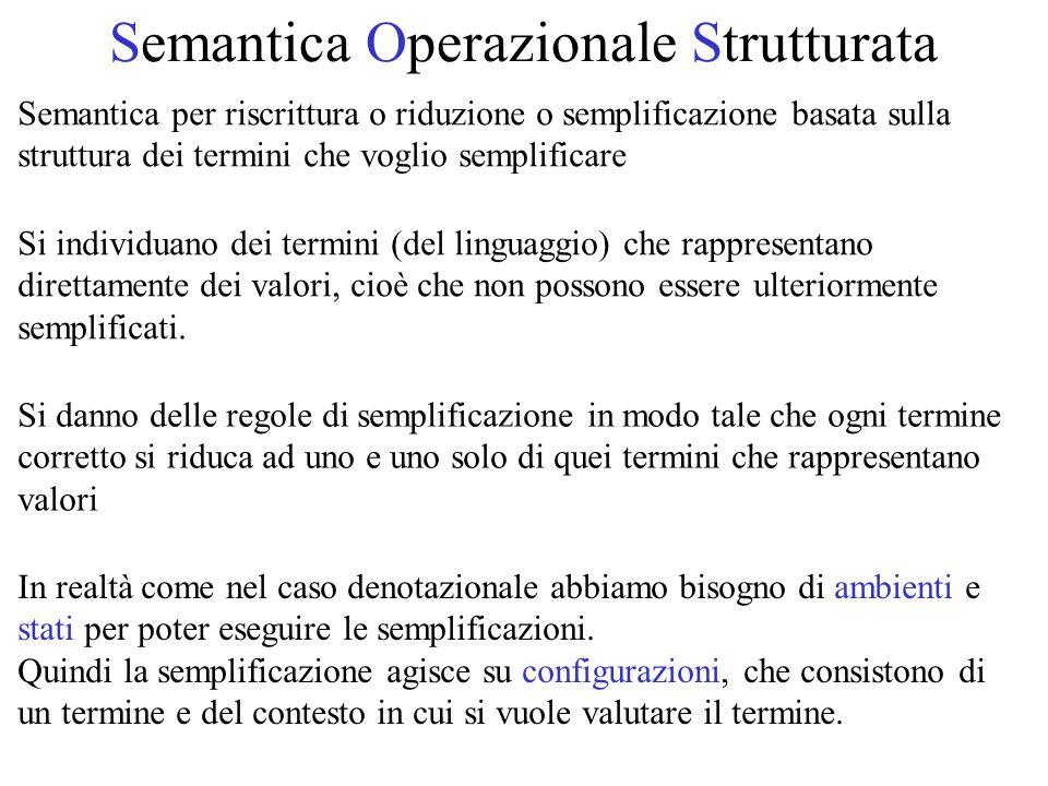 Semantica Operazionale Strutturata