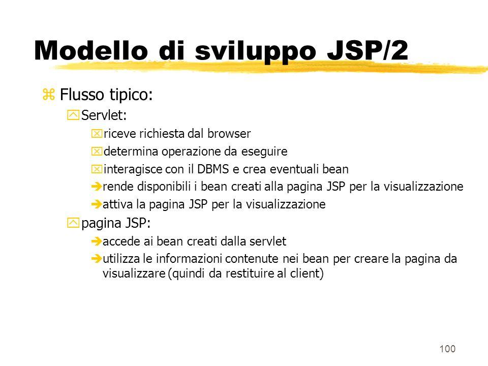 Modello di sviluppo JSP/2