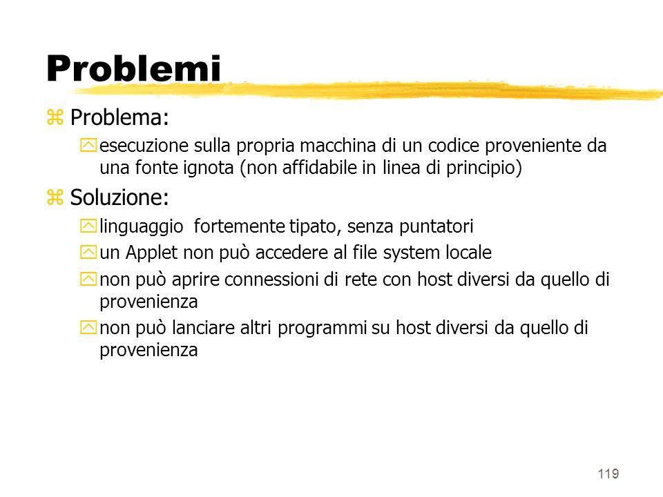 Problemi Problema: Soluzione: