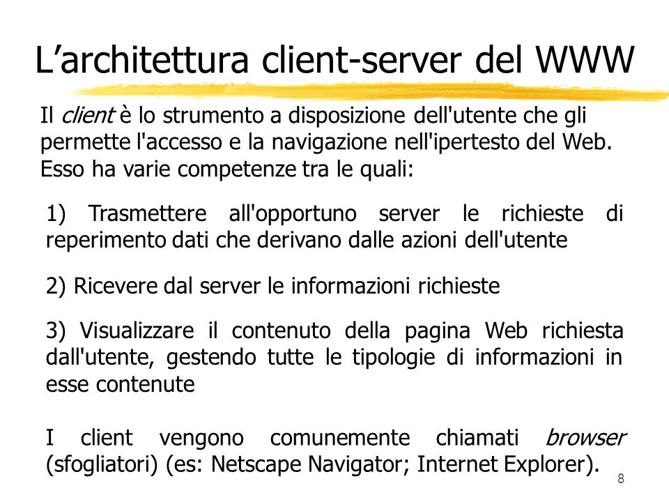 L'architettura client-server del WWW