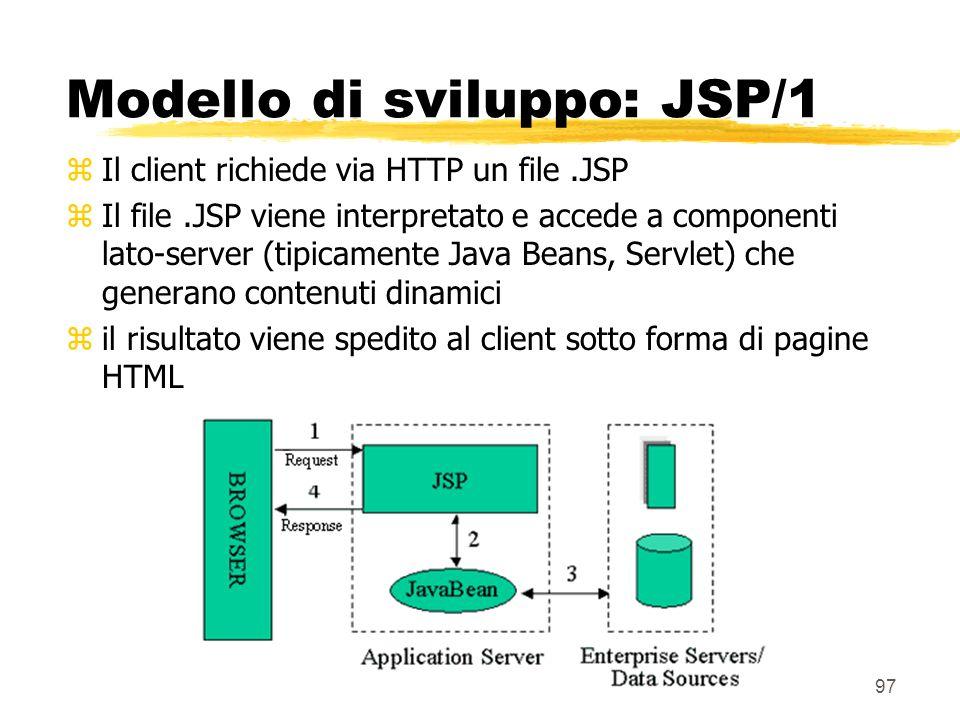 Modello di sviluppo: JSP/1