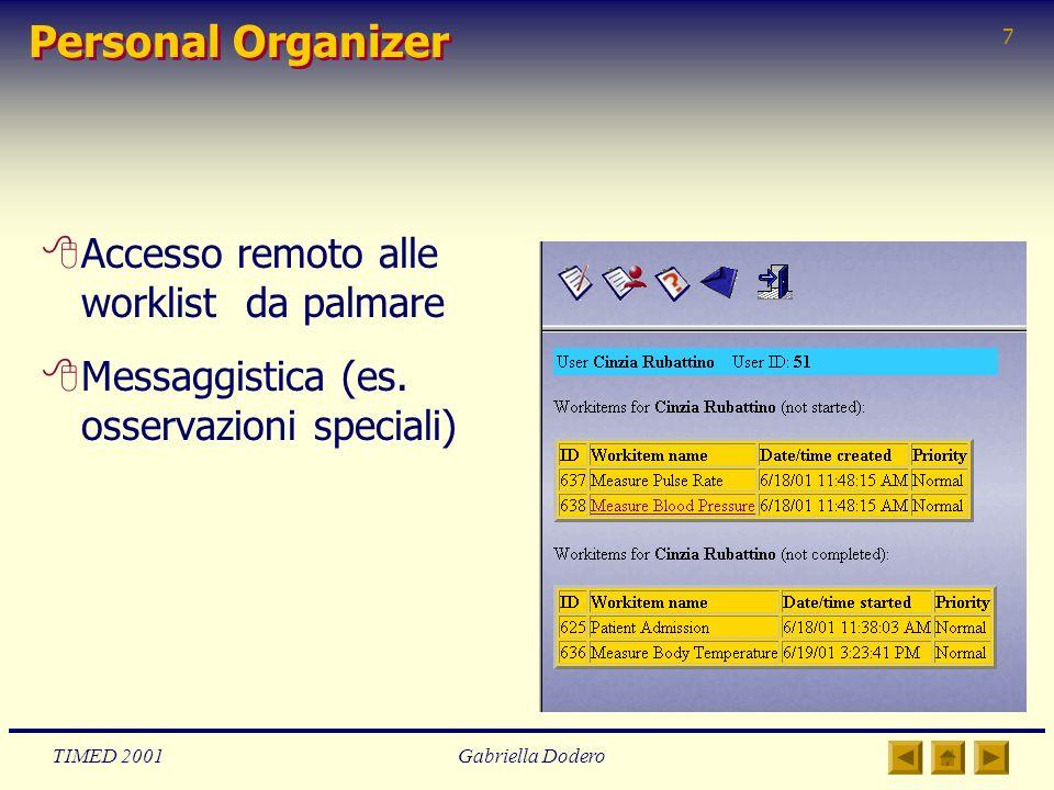 Personal Organizer Accesso remoto alle worklist da palmare