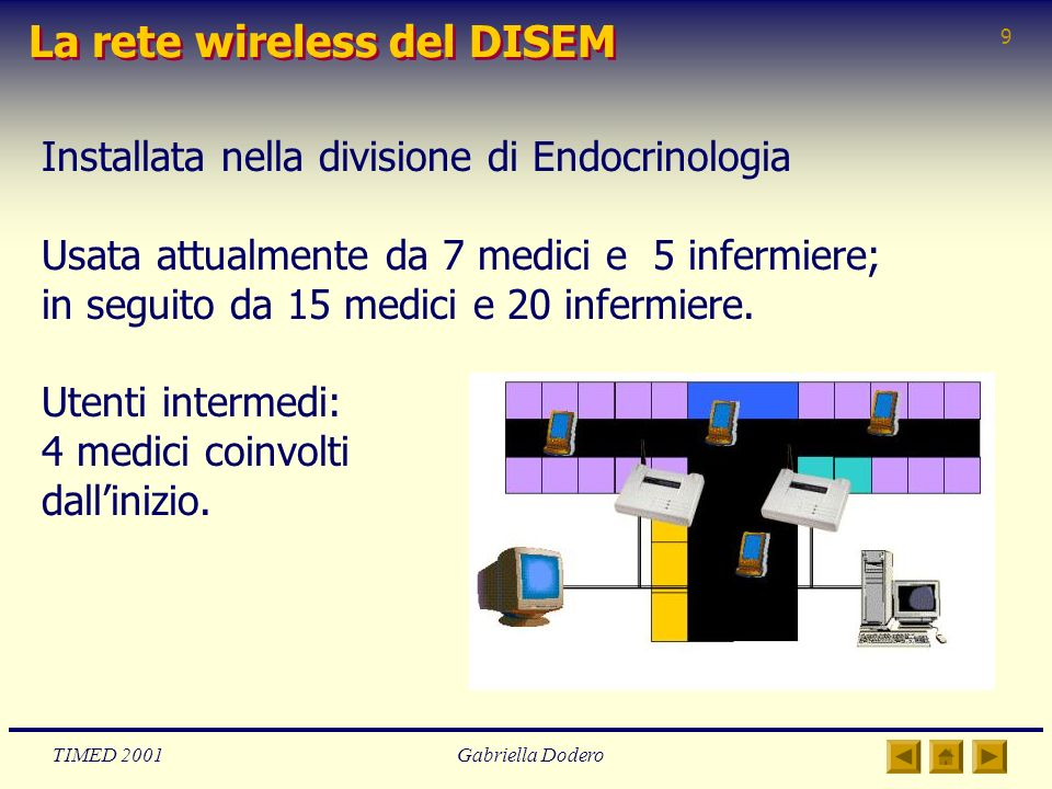 La rete wireless del DISEM