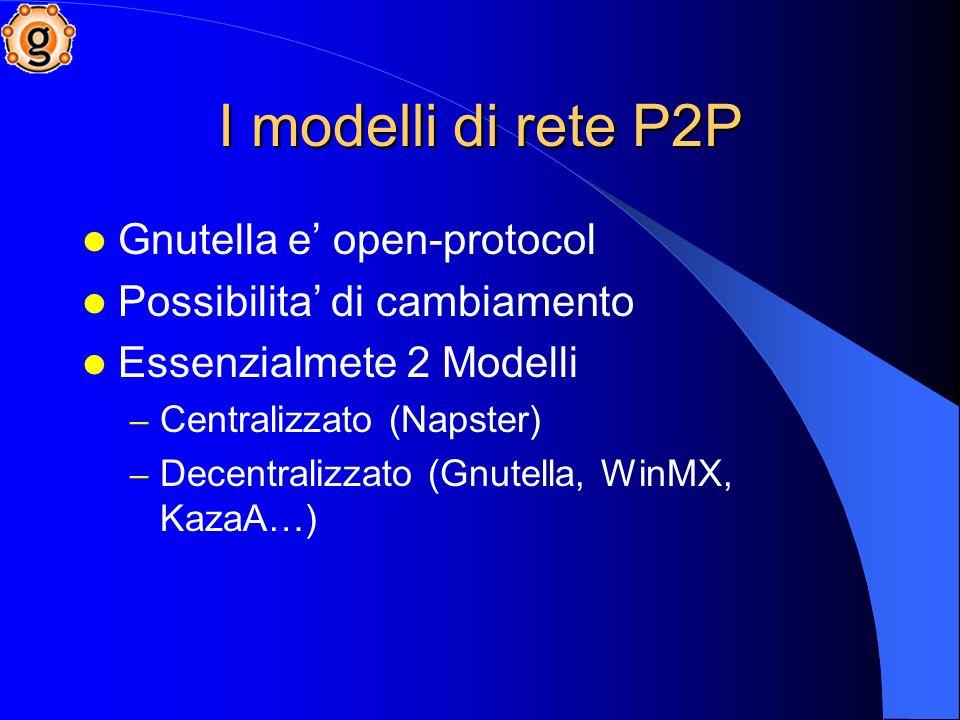 I modelli di rete P2P Gnutella e' open-protocol