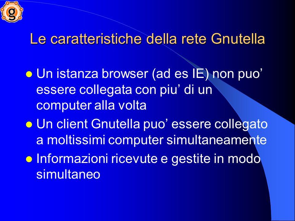 Le caratteristiche della rete Gnutella