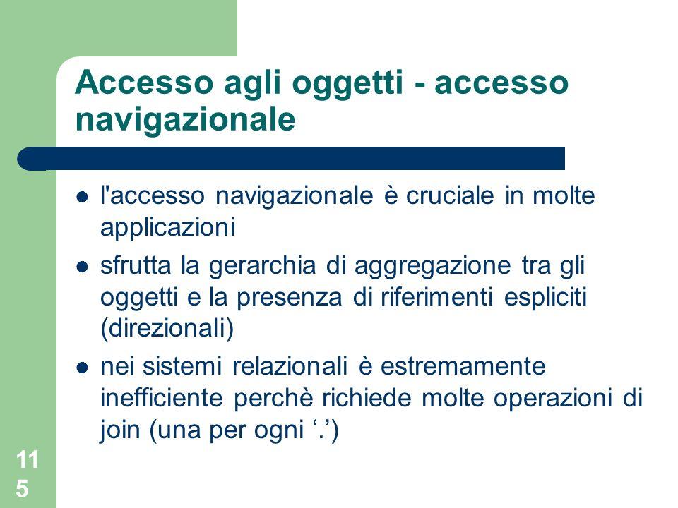 Accesso agli oggetti - accesso navigazionale